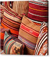 Turkish Cushions 03 Acrylic Print by Rick Piper Photography