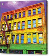 Turn Left At The Brick Building That Looks Like A Bad Acid Trip Acrylic Print