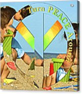 Turn Peace Around 2 Acrylic Print by Charlie and Norma Brock