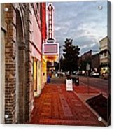 Turnage Theater Grand Opening Acrylic Print