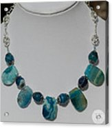 Turquoise And Sapphire Agate Necklace 3674 Acrylic Print