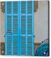 Turquoise Door Acrylic Print