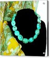 Turquoise Fashion Acrylic Print