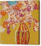 Turquoise Flower Acrylic Print