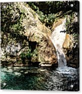 Turquoise Forest Pond On A Summer Day No2 Acrylic Print