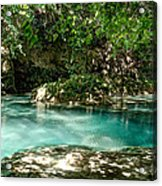 Turquoise Forest Pond On A Summer Day No3 Acrylic Print