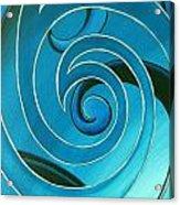 Turquoise Glass Koru Acrylic Print