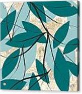 Turquoise Leaves Acrylic Print