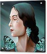 Turquoise  Poetry Acrylic Print