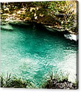 Turquoise River Waterfall And Pond Acrylic Print