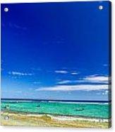 Turquoise Sea And Blue Sky Acrylic Print