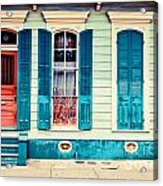 Turquoise Shutters Acrylic Print