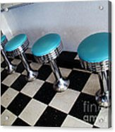 Turquoise Stools Acrylic Print