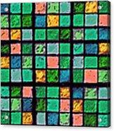 Turquoise Sudoku Acrylic Print
