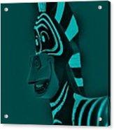 Turquoise Zebra Acrylic Print