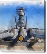 Turrets 1 And 2 Uss Iowa Battleship Photo Art 01 Acrylic Print