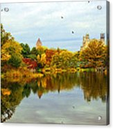 Turtle Pond 2 - Central Park - Nyc Acrylic Print