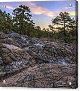 Turtle Rocks Atop Petit Jean Mountain - Arkansas Acrylic Print
