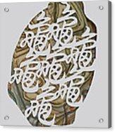 Turtle Shell's Inscription Acrylic Print by Ousama Lazkani