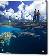 Turtles View Acrylic Print by Sean Davey