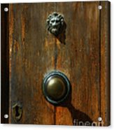 Tuscan Doorknob Acrylic Print
