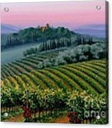 Tuscan Dusk Acrylic Print by Michael Swanson