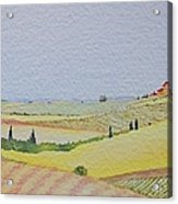 Tuscan Hillside Three Acrylic Print