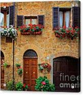 Tuscan Homes Acrylic Print