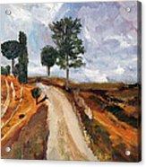 Tuscan Road Acrylic Print