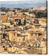 Tuscan Rooftops Siena Acrylic Print