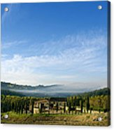 Tuscan Sky Vineyard Acrylic Print