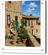 Tuscan Terrace Poster Acrylic Print
