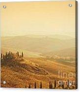 Tuscan Villa Sunrise Acrylic Print