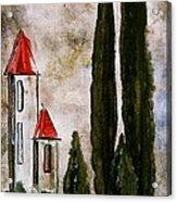 Tuscan Village Landscape Fine Art Print Acrylic Print