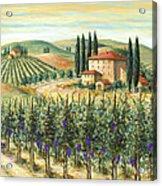 Tuscan Vineyard And Villa Acrylic Print