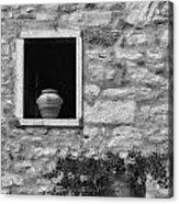Tuscan Window And Pot Acrylic Print