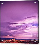 Tuscania Village With Approaching Storm  Italy Acrylic Print