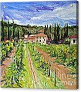 Tuscany Afternoon Acrylic Print