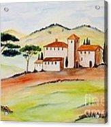 Tuscany-again And Again Acrylic Print