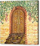 Tuscany Door Acrylic Print