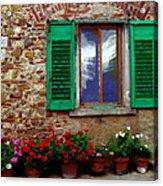 Tuscany - Flower Pots In Chianti Acrylic Print