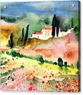Tuscany Landscape 02 Acrylic Print by Miki De Goodaboom