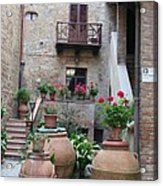 Tuscany Yard Acrylic Print