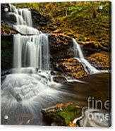 Tuscarora Falls In Fall Acrylic Print