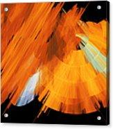 Tutu Stage Left Abstract Orange Acrylic Print