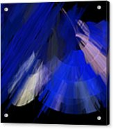 Tutu Stage Left Blue Abstract Acrylic Print