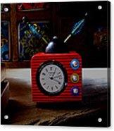 Tv Clock Acrylic Print