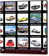 Twenty Corvettes Acrylic Print