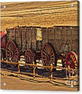 Twenty-mule Team In Sepia Acrylic Print
