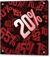 Twenty Per Cent Discount Acrylic Print